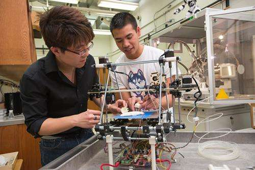 Students design artificial kidney with 3-D printing