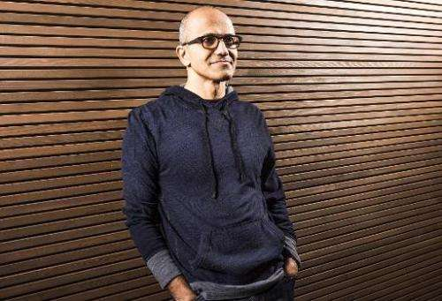 This handout image provided by Microsoft on February 4, 2014 shows the new CEO Satya Nadella