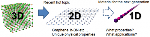 Two-element atomic chain synthesized using microscopic space inside a carbon nanotube