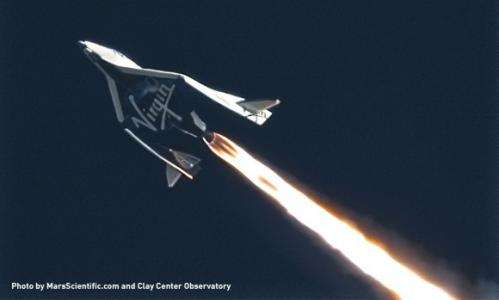 Virgin spacecraft prototype soars over Mojave, testing re-entry system