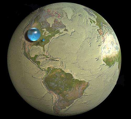 What percent of Earth is water?