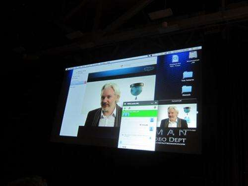 WikiLeaks' Assange talks NSA, hints at more leaks (Update)