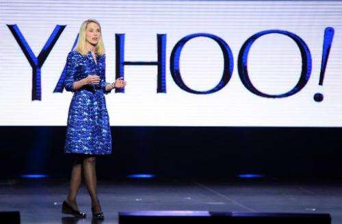 Yahoo! President and CEO Marissa Mayer delivers a keynote address at the 2014 International CES on January 7, 2014 in Las Vegas,