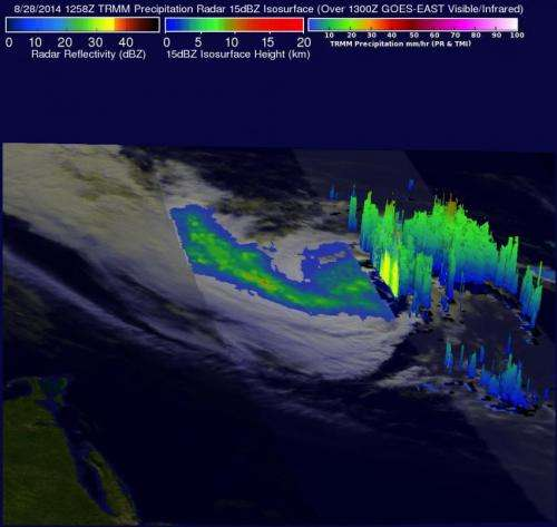 NASA sees Hurricane Cristobal racing through North Atlantic