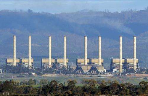 In this file photo, the Hazelwood power station billows smoke from its exhaust stacks in the Latrobe Valley, 150 km east of Melb