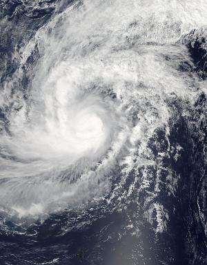 NASA satellite sees Faxai hit typhoon strength