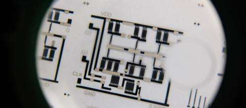 Engineers develop innovative process to print flexible electronic circuits