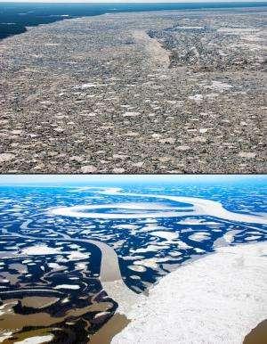 River ice reveals new twist on Arctic melt