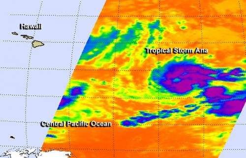 NASA's Aqua satellite spots Central Pacific's Tropical Storm Ana