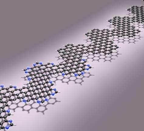 Doped graphene nanoribbons with potential