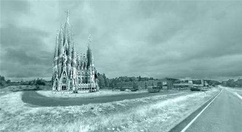 Dutch student team builds 40 meter ice basilica in Finland in three weeks