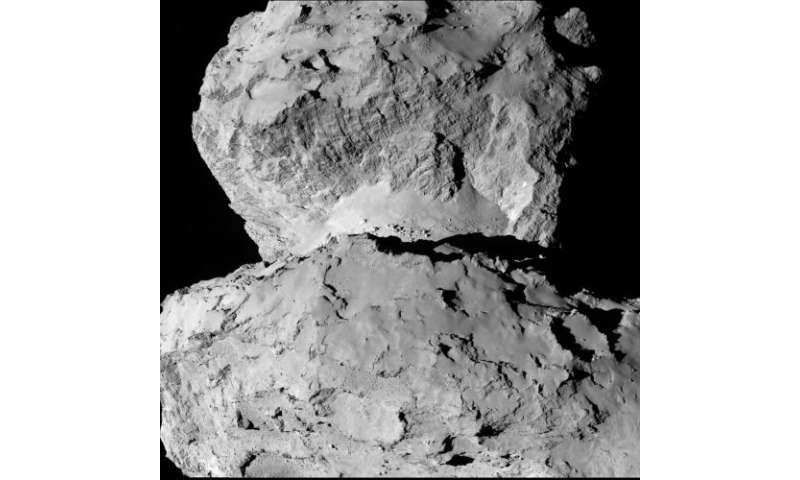 Image: Rosetta spies comet surface variations