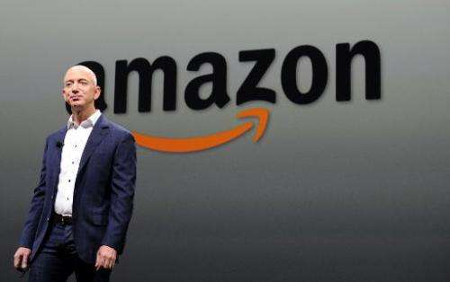 Jeff Bezos, CEO of Amazon, who is expected to unveil the firm's first smartphone on June 18, 2014, speaks Santa Monica, Californ