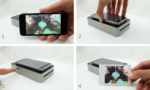 Kickstarter project SnapJet hardware device lets you print your smartphone pic as Polaroid