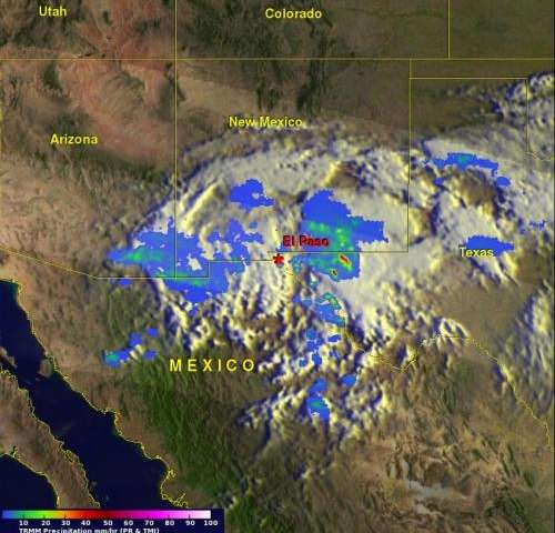 NASA, NOAA satellites show Odile's remnant romp through southern US