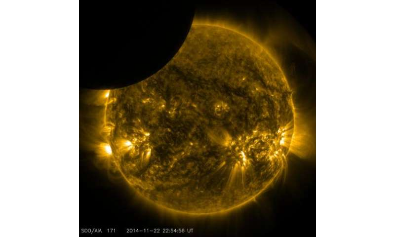 NASA's SDO shows moon transiting the sun