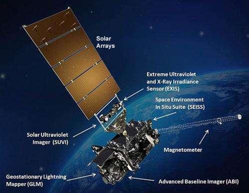 NOAA GOES-R satellite black wing ready for flight