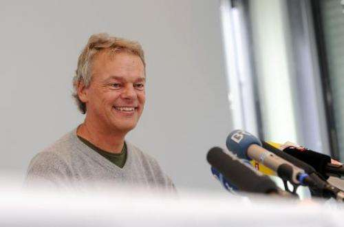 Norwegian neuroscientist Edvard I Moser smiles during a press conference on October 6, 2014, in Martinsried bei Muenchen, German
