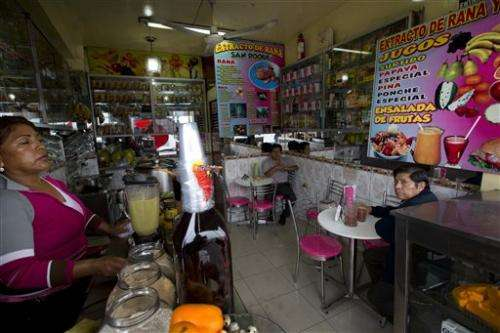Peruvian frog juice drinkers laud health benefits