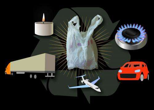 Plastic shopping bags make a fine diesel fuel, researchers report