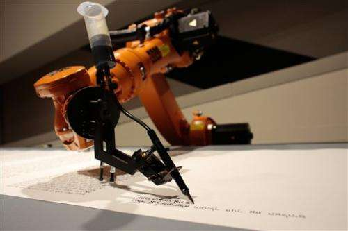 Robot writes Torah at Berlin's Jewish Museum