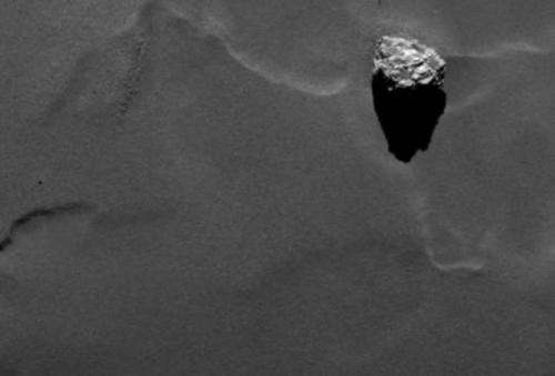 Scientists have named one of the largest boulders on Rosetta's comet after an Egyptian pyramid