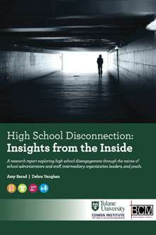 Study examines the causes of high school disconnection by youth and potential solutions