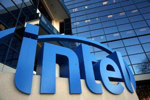 The Intel logo is displayed outside of the Intel headquarters on January 16, 2014 in Santa Clara, California