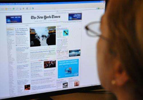 The New York Times Co. said it narrowed its losses from the same period a year ago, while touting progress in its transition to