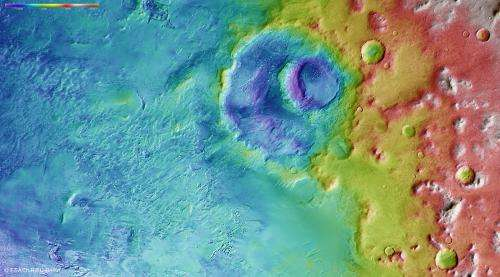 Winter in the southern uplands of Mars