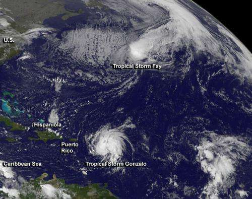 Tropical Storm Gonzalo triggered many warnings in Eastern Caribbean
