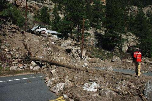 2013 Colorado front range flood: Debris-flow a major hazard