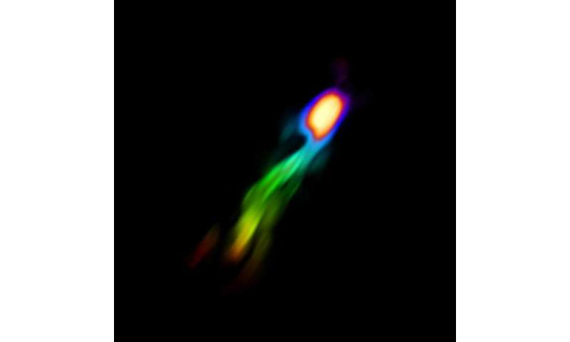 Observing galactic 'blow out'