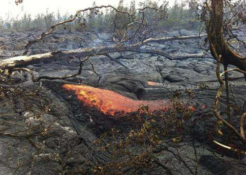 Lava flow at Hawaii trash transfer station stops