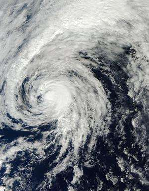 Satellite movie shows Tropical Storm Ana headed to British Columbia, Canada