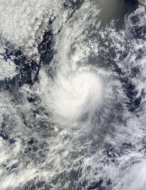 NASA satellite spots a weakening Karina, now a tropical storm