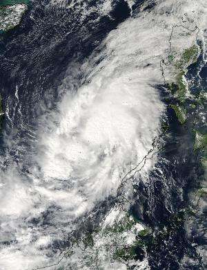 NASA satellite sees Tropical Storm Sinlaku in the South China Sea