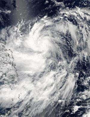 NASA sees Tropical Storm Kalmaegi swirl toward the Philippines