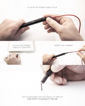 3D pen-in-air aims for professional heights