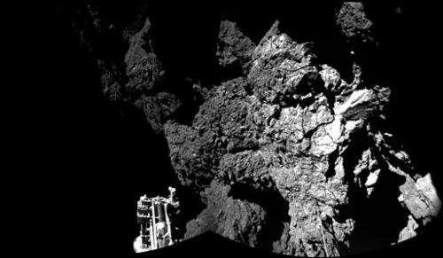 Comet lander ends up in cliff shadow