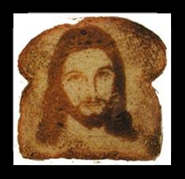 Researchers find 'seeing Jesus in toast' phenomenon perfectly normal