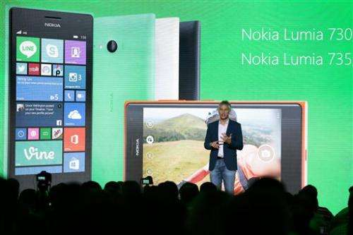Selfie-centric phone among new Microsoft offerings