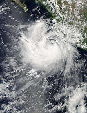 NASA sees Tropical Storm playing polo with western Mexico