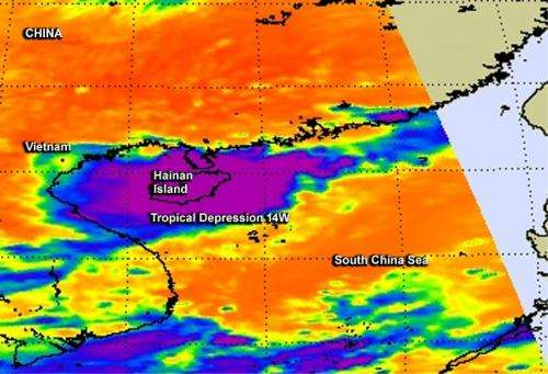 NASA catches the end of Tropical Depression 14W