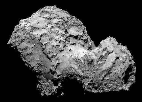 Rosetta's comet looks weird in decade-old Hubble model