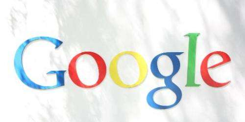 The Google logo is seen at the Google headquarters in Mountain View, California on September 2, 2011