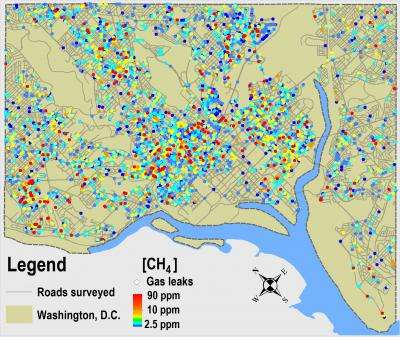 5,900 natural gas leaks discovered under Washington, D.C.