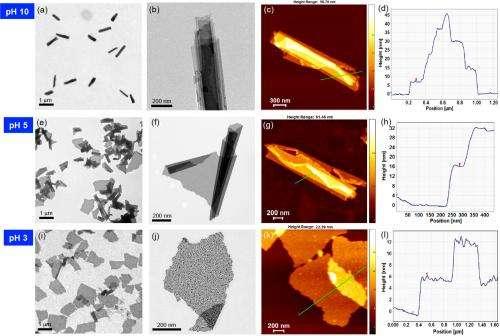 Researcher develops optically traceable smart 2-D nanosheet that responds to pH