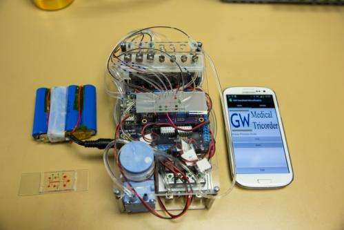Researchers have developed a diagnostic device to make portable health care possible