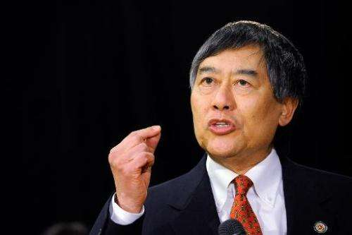 University of Maryland President Wallace Loh speaks during a press conference on November 19, 2012 in College Park, Maryland